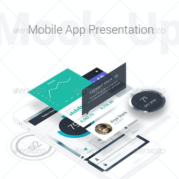 Mobile App Presentation Mock-Up