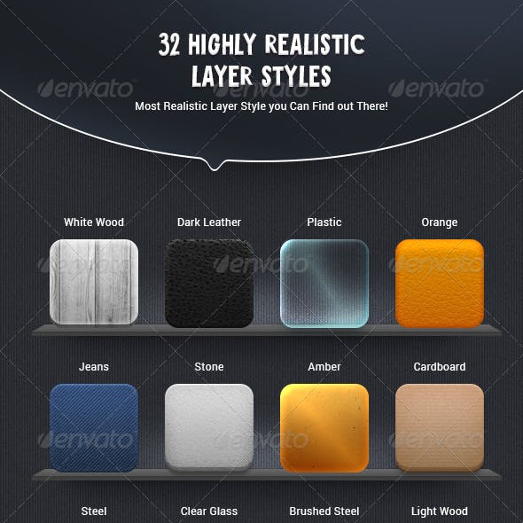 32 Highly Realistic Layer Styles