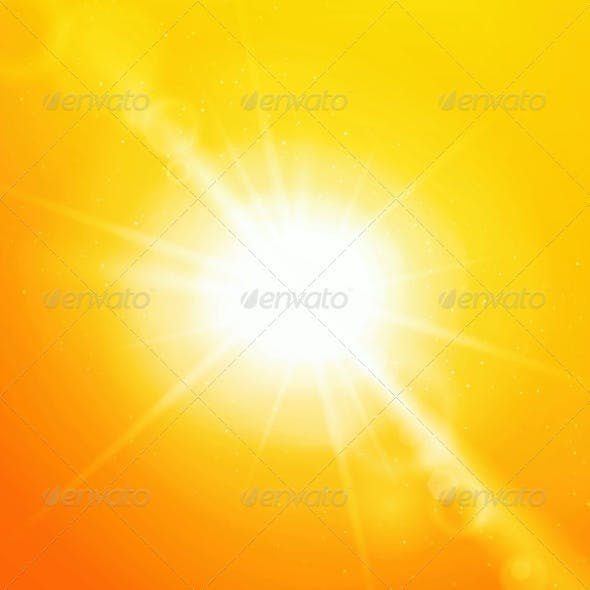 Abstract Background with Sun and Lens Flare
