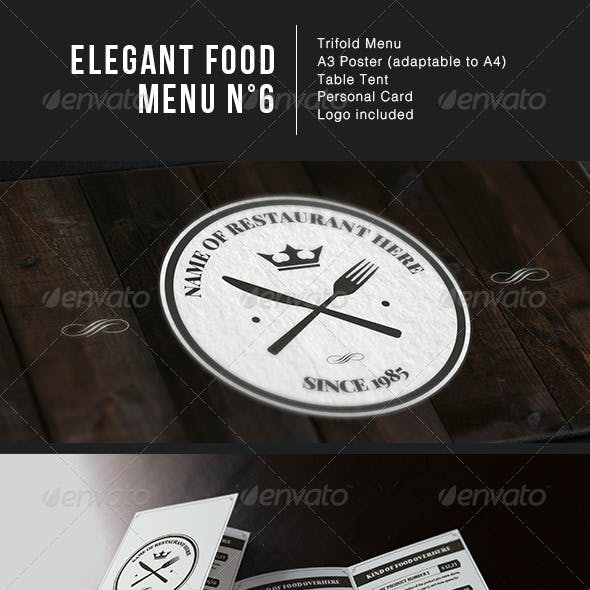 Elegant Food Menu 6