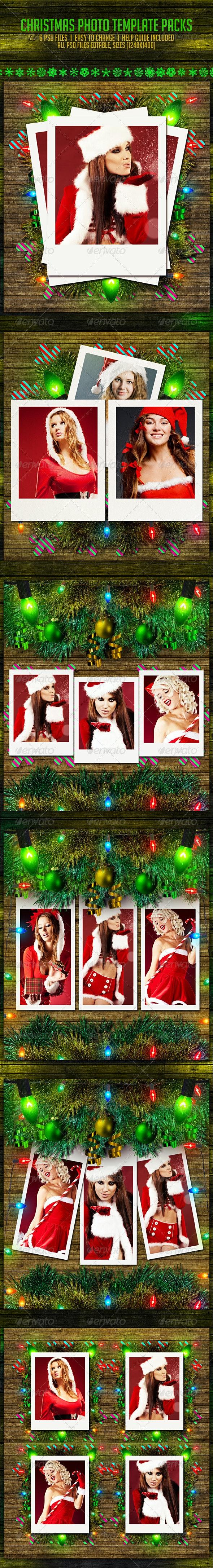 Christmas Photo Templates Pack - Seasonal Photo Templates