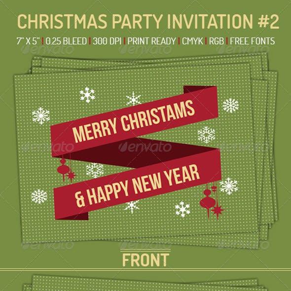 Christmas Party Invitation 2