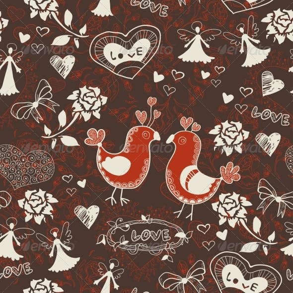 Floral Romantic Seamless Background