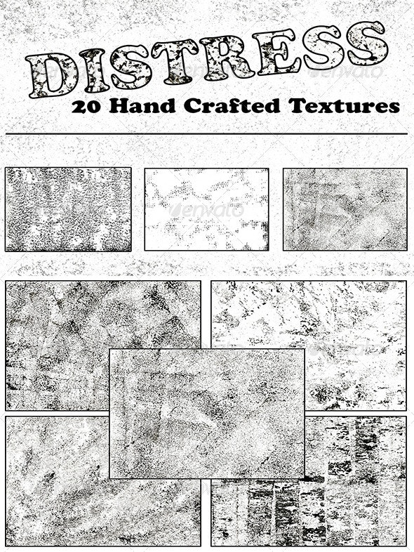 Distressed - 20 Hand Crafted Textures - Industrial / Grunge Textures