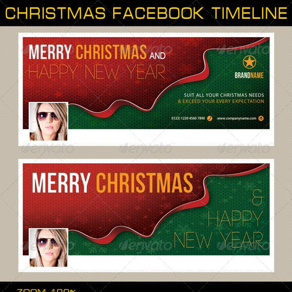 Christmas Holidays Facebook Timeline