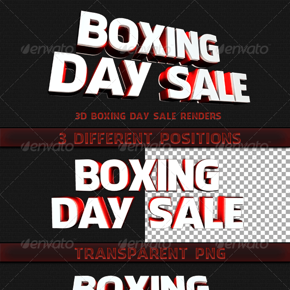 Boxing Day Sale, 3D Render
