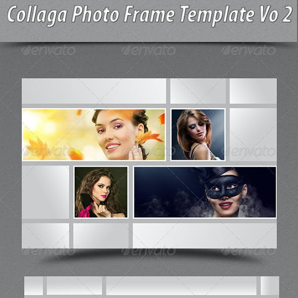 Collage Photo Frame Template Vo2
