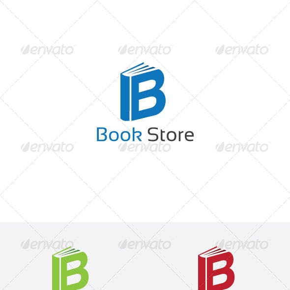 B Letter Book Store Logo