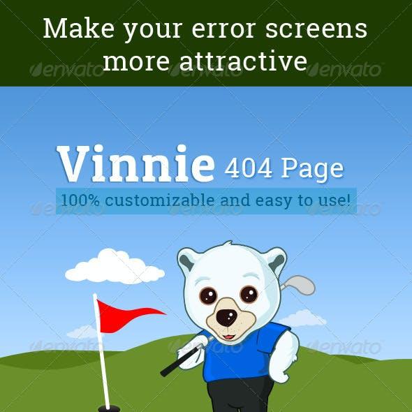 Vinnie 404 Error Page