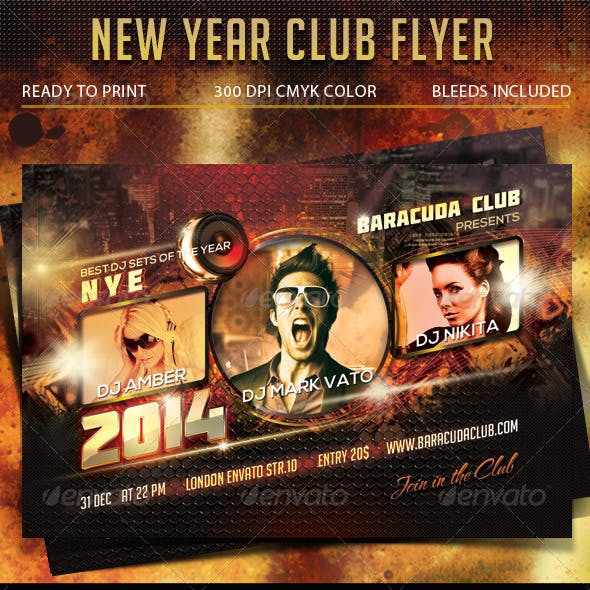 New Year Club Flyer