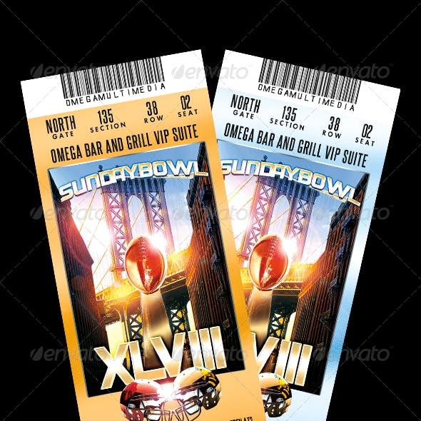 SundayBowl Flyer Ticket