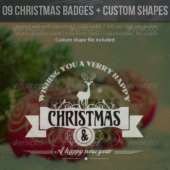 Christmas Labels With Custom Shapes