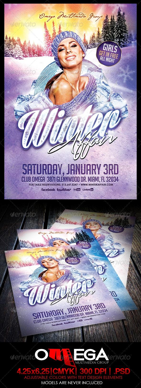 Winter Affair - Events Flyers