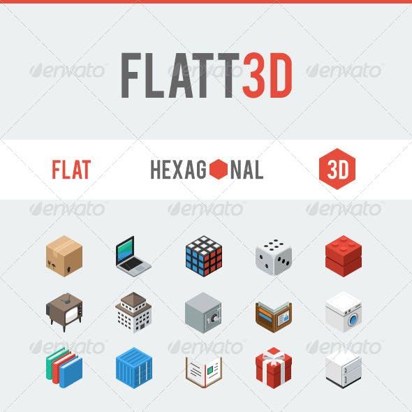 Flatt3d Isometric Icon Pack