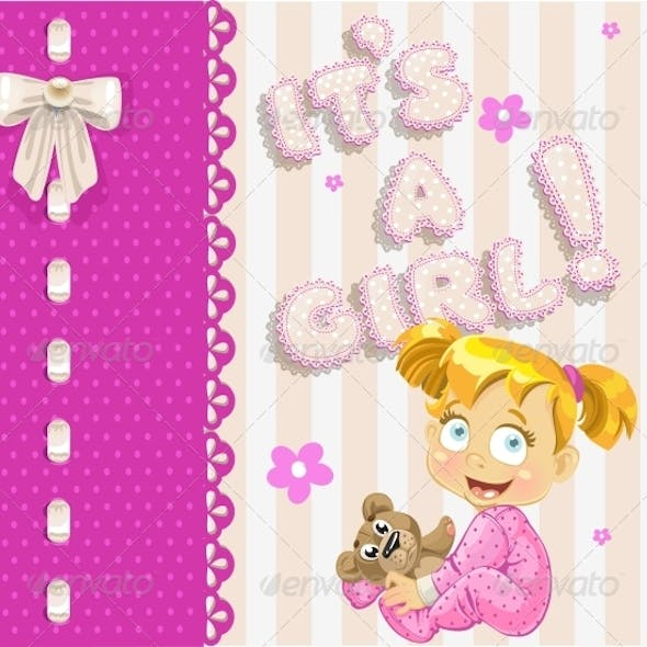 """It's a Girl"" - Openwork Card"