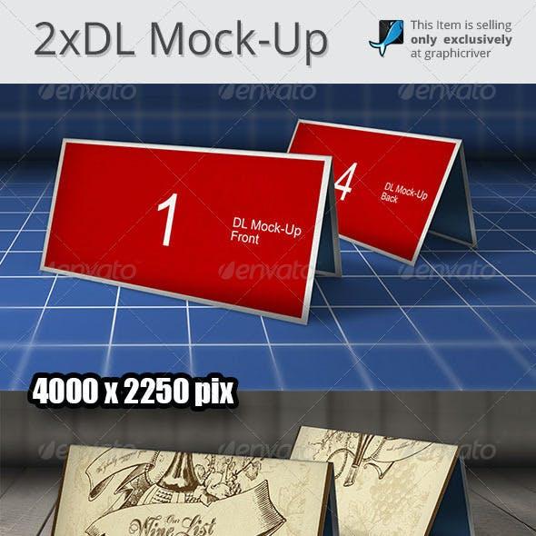 2x DL Mock-Up Photoshop