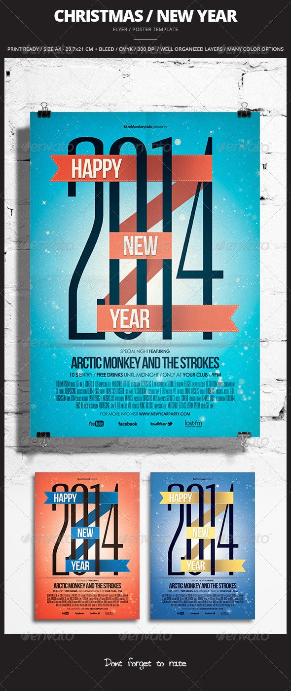 Christmas / New Year Flyer / Poster - Events Flyers