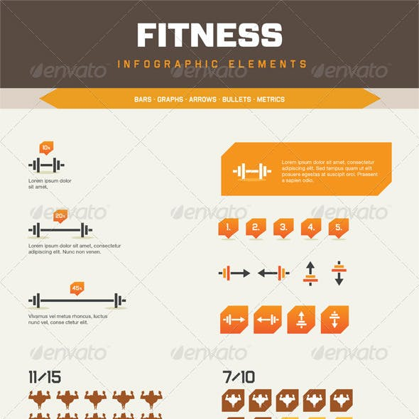 Infographic Elements - Fitness