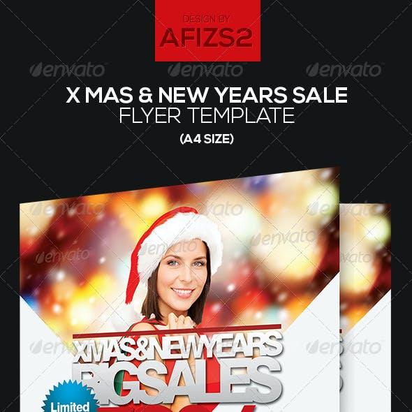 X Mas & New Years Sale Flyer