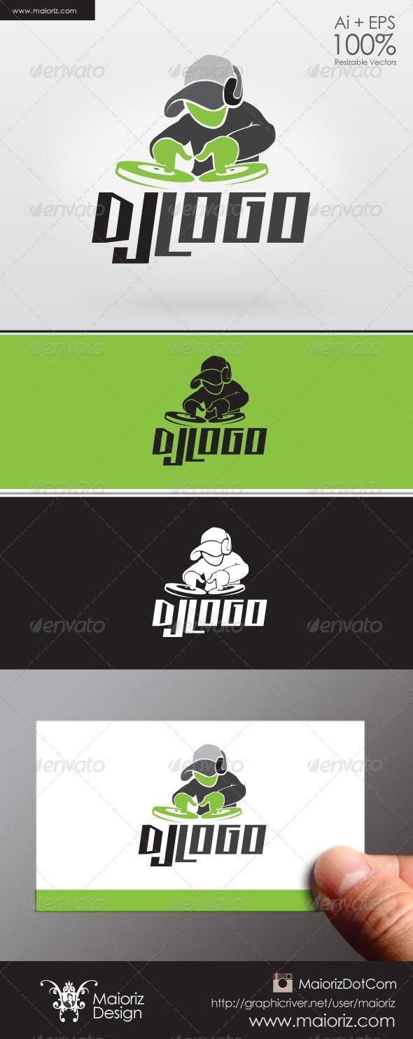 Dj Logo Template - Humans Logo Templates