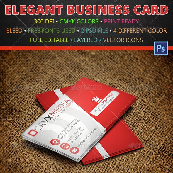 4 Color Creative Business Card 145