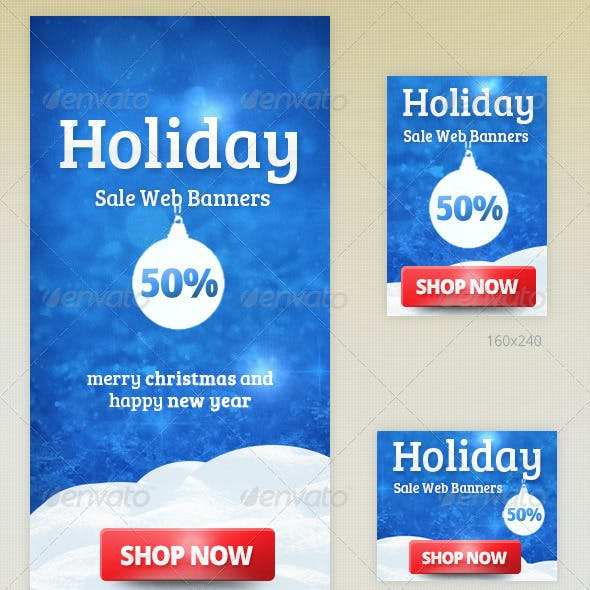 Holiday Sale Web Banners