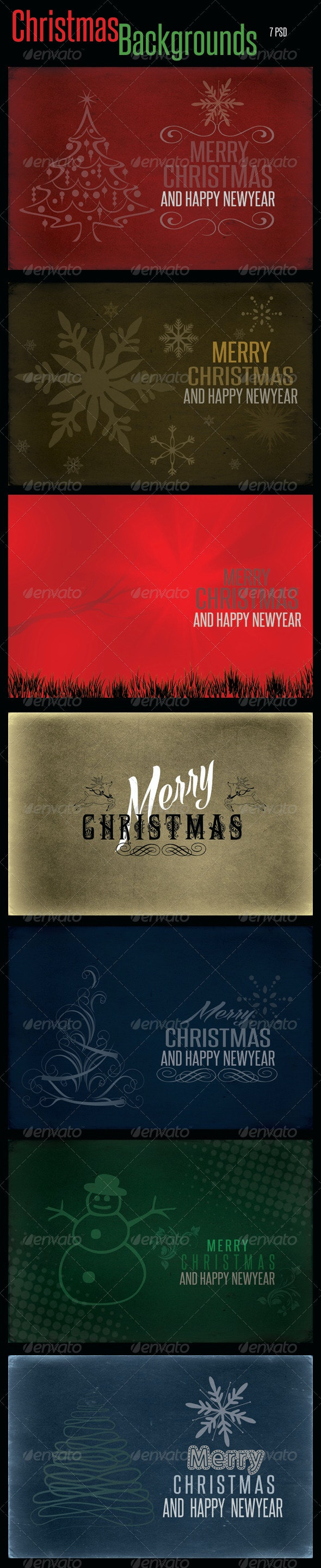 Christmas Backgrounds PSD Templates - Abstract Backgrounds