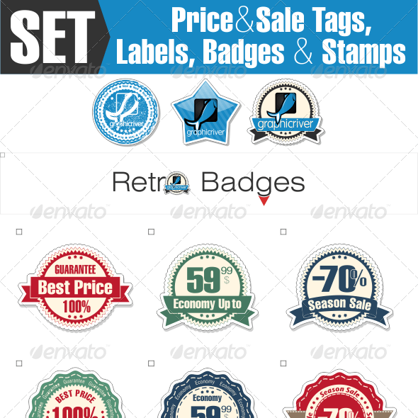 Sale Tags, Labels and Badges for Online Shop