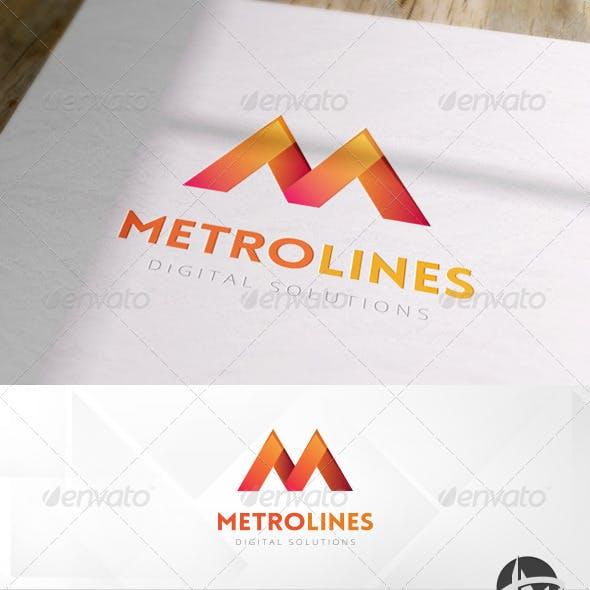 Metro Lines Logo Template
