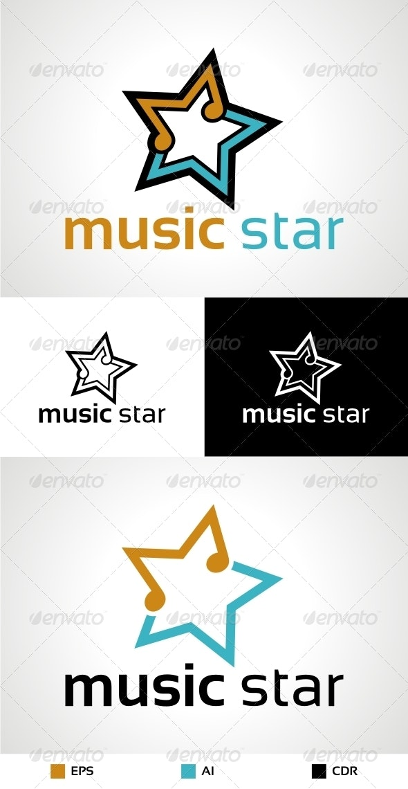 Music Star Logo - Symbols Logo Templates