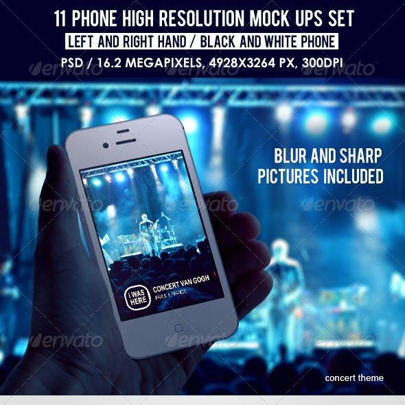 11 Phone High Resolution Mock Ups