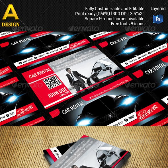 Car Rental Business Card AN0107
