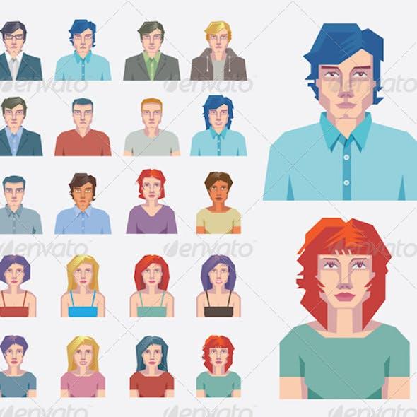 People Avatar Vector Mugshots - Set.1