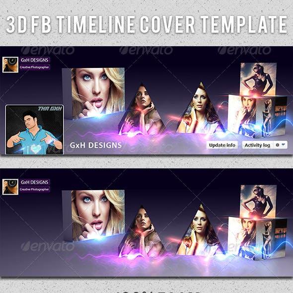 3D Facebook Cover Template