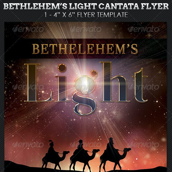 Bethlehem Light Cantata Flyer Template