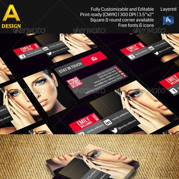 Model Business Card AN0108