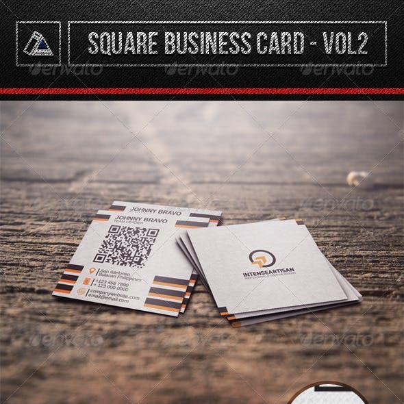 Square Business Card Vol2