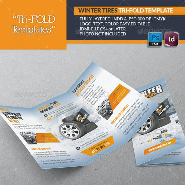 Winter Tires Tri-Fold Template