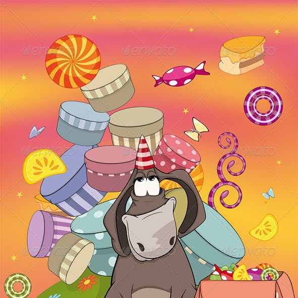 Donkey Birthday Cartoon