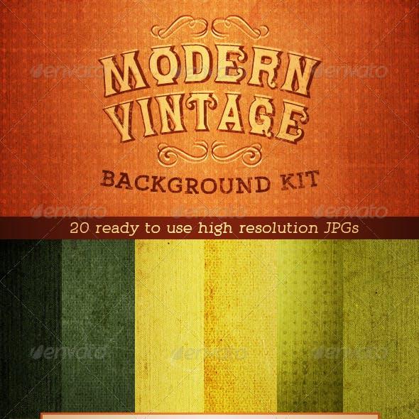 Modern Vintage Textured Canvas Grunge