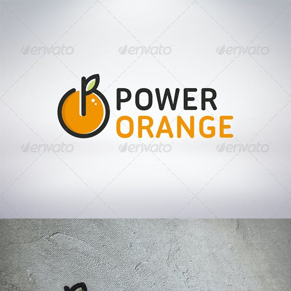 Power Orange Logo Template
