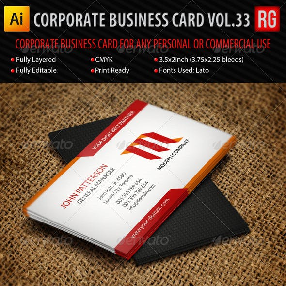 Corporate Business Card Vol.33