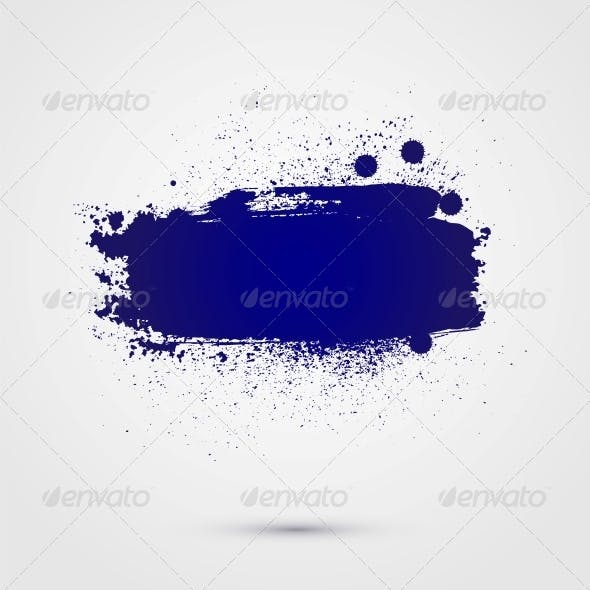 Abstract Vector Background of Paint Banner