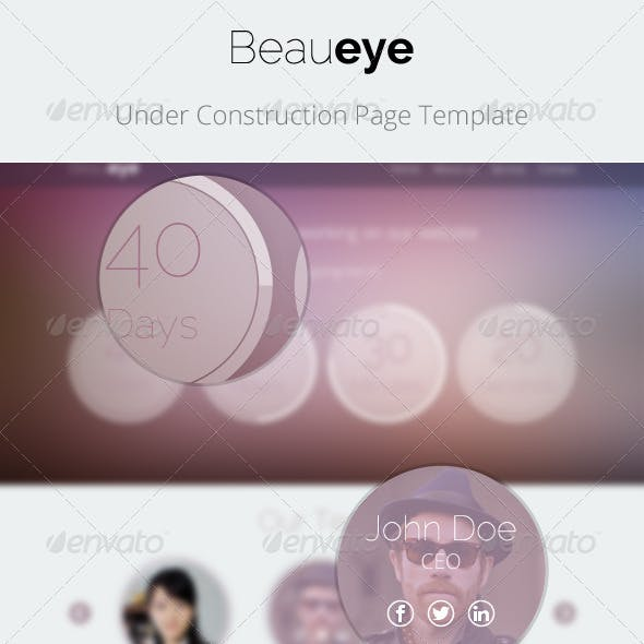 Beaueye - Under Construction Page Template