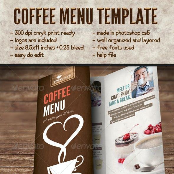 Elegant Coffee Menu Template