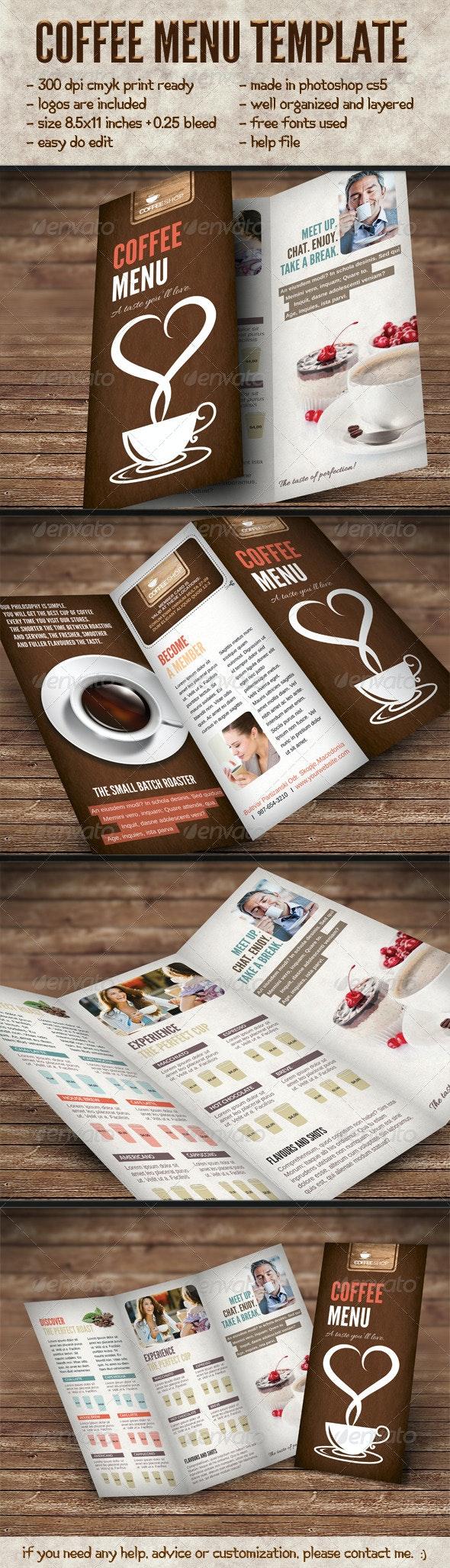Elegant Coffee Menu Template - Food Menus Print Templates
