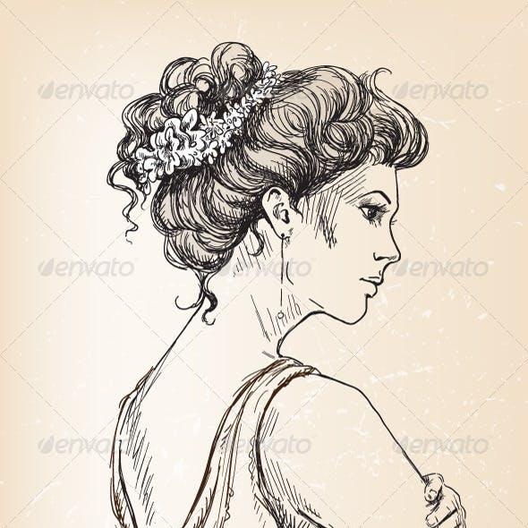 Girl. Bride. Bridal Hair.