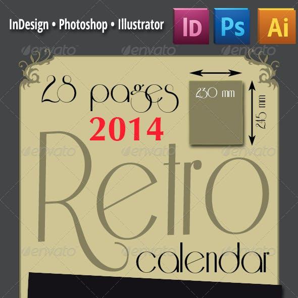 28 Pages 2014 Retro Calendar