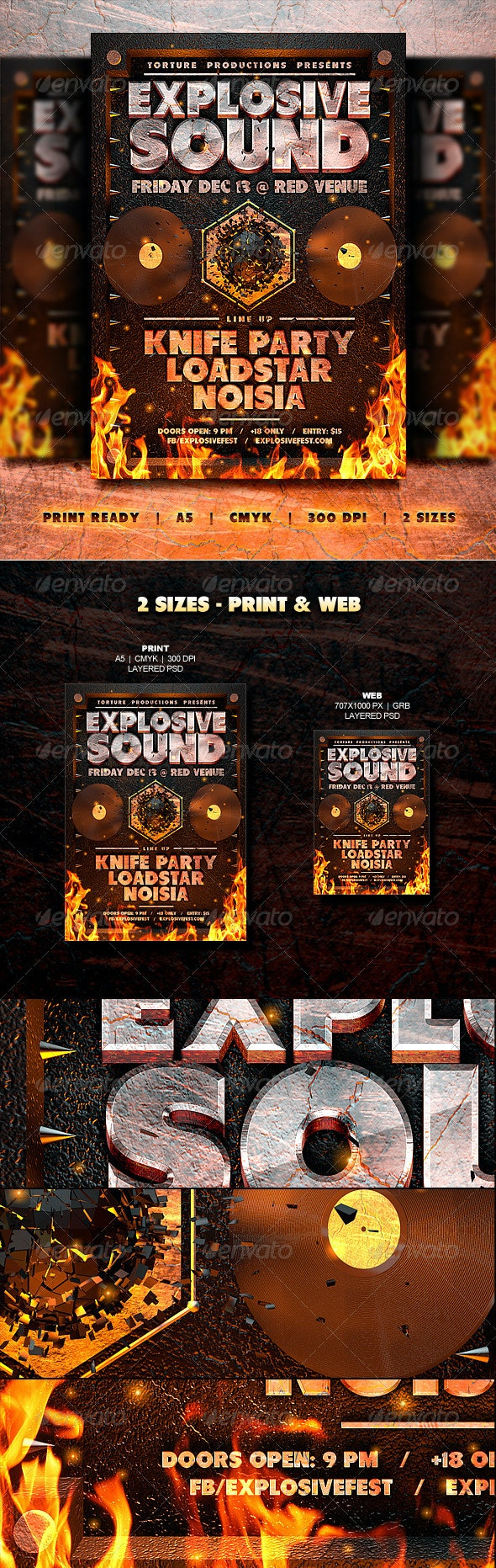 Hellburn Flyer // 2 Sizes - Clubs & Parties Events