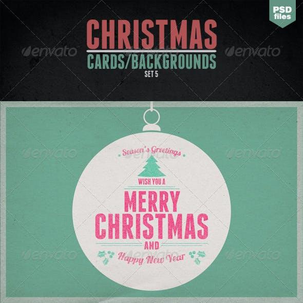Vintage Christmas Cards - Backgrounds - Set 5